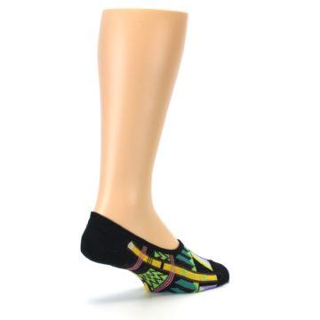 Image of Black Gold Tribal Patterned Mens No-Show Sock (side-1-back-22)