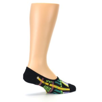 Image of Black Gold Tribal Patterned Mens No-Show Sock (side-1-23)