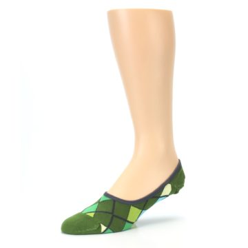 Image of Greens Diamond Stripe Mens No-Show Sock (side-2-09)
