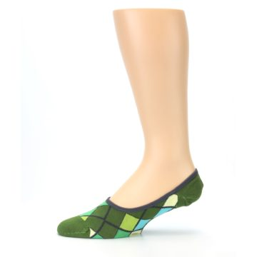 Image of Greens Diamond Stripe Mens No-Show Sock (side-2-11)
