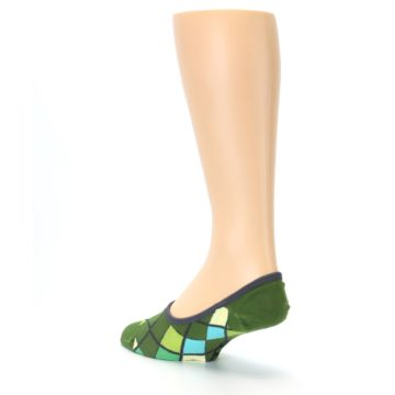 Image of Greens Diamond Stripe Mens No-Show Sock (side-2-back-15)