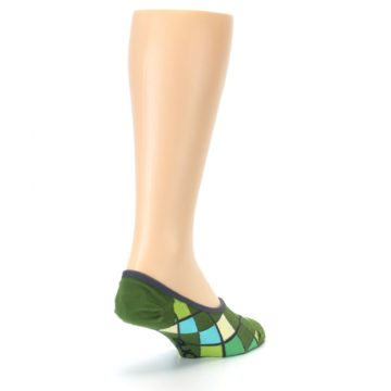 Image of Greens Diamond Stripe Mens No-Show Sock (side-1-back-21)