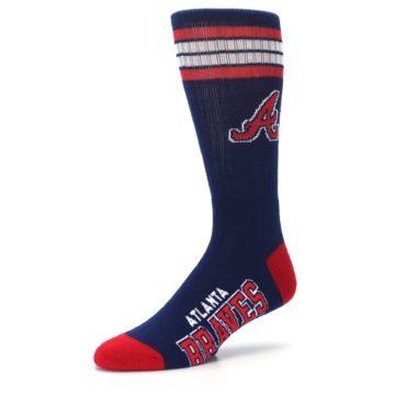 Image of Atlanta Braves Men's Athletic Crew Socks (side-2-09)