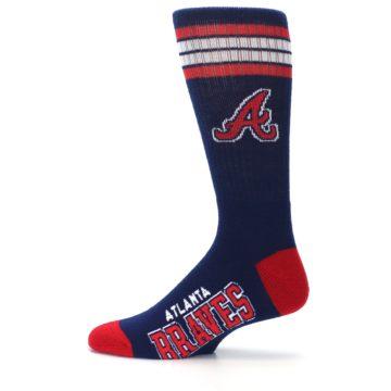 Image of Atlanta Braves Men's Athletic Crew Socks (side-2-12)
