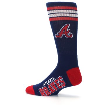 Image of Atlanta Braves Men's Athletic Crew Socks (side-2-13)