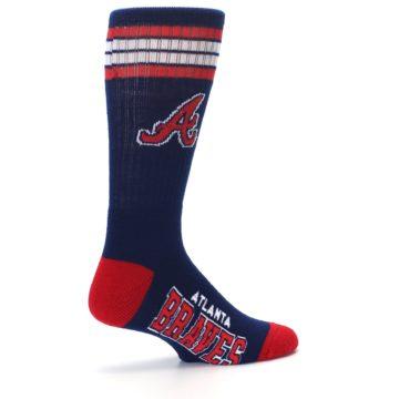 Image of Atlanta Braves Men's Athletic Crew Socks (side-1-23)