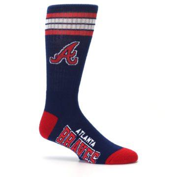 Image of Atlanta Braves Men's Athletic Crew Socks (side-1-25)