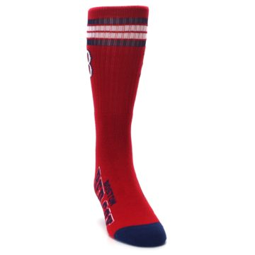 Image of Boston Red Sox Men's Athletic Crew Socks (side-1-front-03)