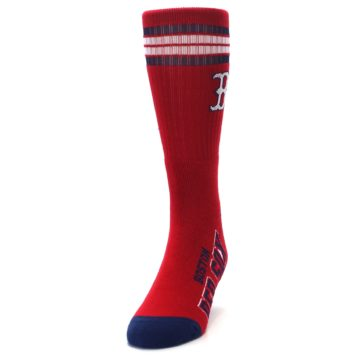 Image of Boston Red Sox Men's Athletic Crew Socks (side-2-front-06)