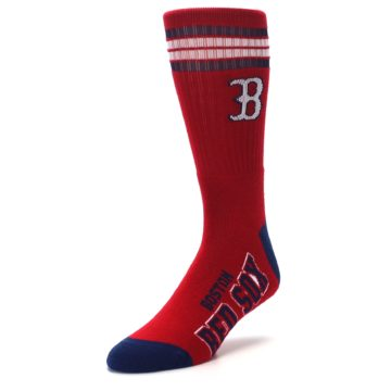 Image of Boston Red Sox Men's Athletic Crew Socks (side-2-front-08)