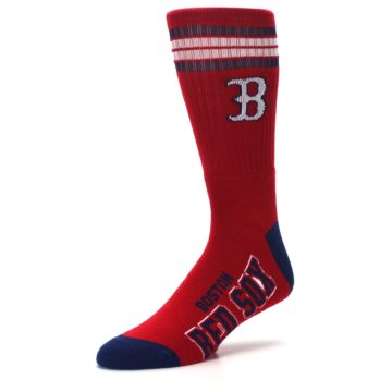 Image of Boston Red Sox Men's Athletic Crew Socks (side-2-09)