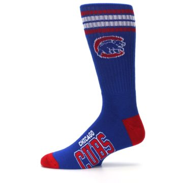 Image of Chicago Cubs Men's Athletic Crew Socks (side-2-11)