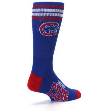 Image of Chicago Cubs Men's Athletic Crew Socks (side-1-back-22)