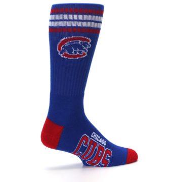 Image of Chicago Cubs Men's Athletic Crew Socks (side-1-23)