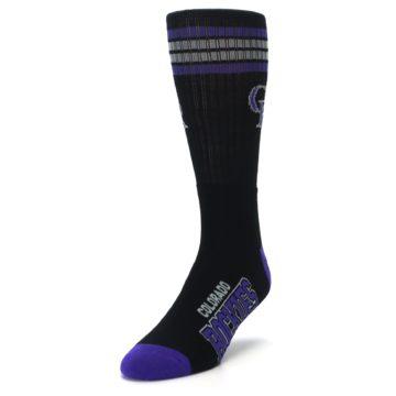 Image of Colorado Rockies Men's Athletic Crew Socks (side-2-front-07)