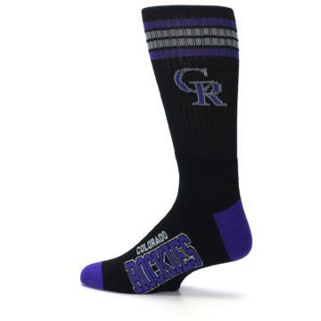 Image of Colorado Rockies Men's Athletic Crew Socks (side-2-13)