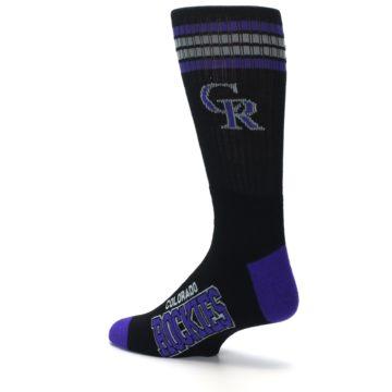 Image of Colorado Rockies Men's Athletic Crew Socks (side-2-back-14)