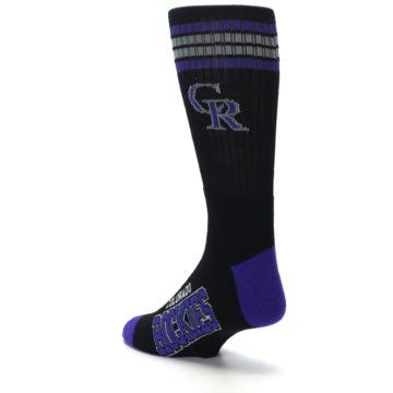 Image of Colorado Rockies Men's Athletic Crew Socks (side-2-back-15)