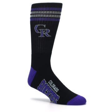 Image of Colorado Rockies Men's Athletic Crew Socks (side-1-26)