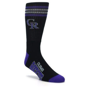 Image of Colorado Rockies Men's Athletic Crew Socks (side-1-27)
