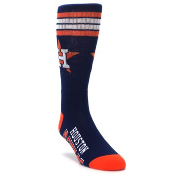 Image of Houston Astros Men's Athletic Crew Socks (side-1-front-02)