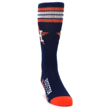 Image of Houston Astros Men's Athletic Crew Socks (side-1-front-03)
