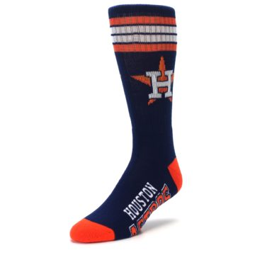 Image of Houston Astros Men's Athletic Crew Socks (side-2-front-08)