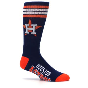Image of Houston Astros Men's Athletic Crew Socks (side-1-25)
