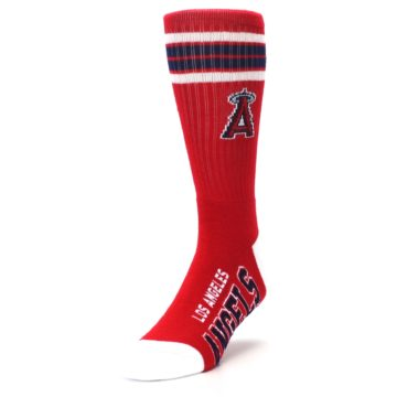 Image of Los Angeles Angels Men's Athletic Crew Socks (side-2-front-07)