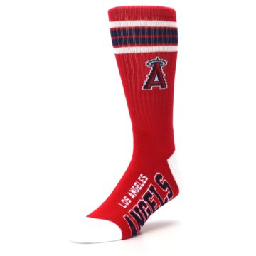 Image of Los Angeles Angels Men's Athletic Crew Socks (side-2-front-08)