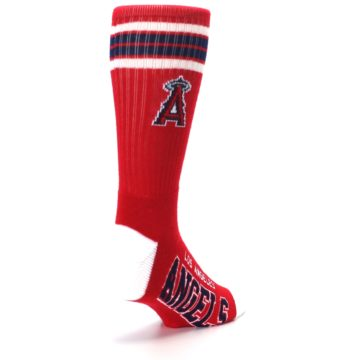 Image of Los Angeles Angels Men's Athletic Crew Socks (side-1-back-21)