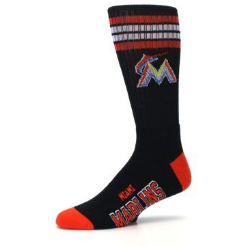 Image of Miami Marlins Men's Athletic Crew Socks (side-2-10)
