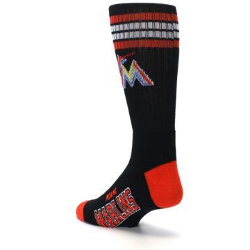 Image of Miami Marlins Men's Athletic Crew Socks (side-2-back-15)