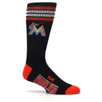 Image of Miami Marlins Men's Athletic Crew Socks (side-1-25)