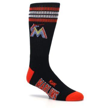 Image of Miami Marlins Men's Athletic Crew Socks (side-1-26)