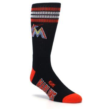 Image of Miami Marlins Men's Athletic Crew Socks (side-1-27)