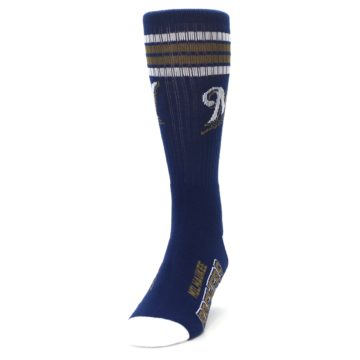 Image of Milwaukee Brewers Men's Athletic Crew Socks (side-2-front-06)