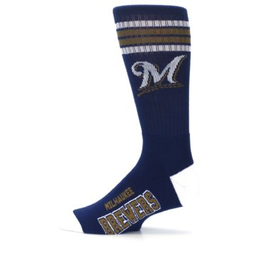 Image of Milwaukee Brewers Men's Athletic Crew Socks (side-2-12)