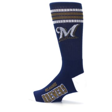 Image of Milwaukee Brewers Men's Athletic Crew Socks (side-2-13)