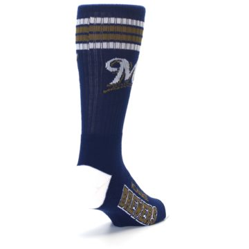 Image of Milwaukee Brewers Men's Athletic Crew Socks (side-1-back-21)