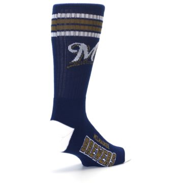 Image of Milwaukee Brewers Men's Athletic Crew Socks (side-1-back-22)