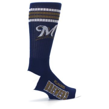 Image of Milwaukee Brewers Men's Athletic Crew Socks (side-1-23)