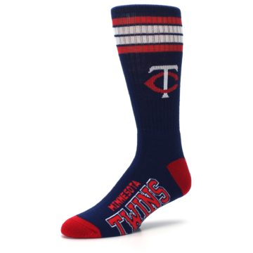 Image of Minnesota Twins Men's Athletic Crew Socks (side-2-09)