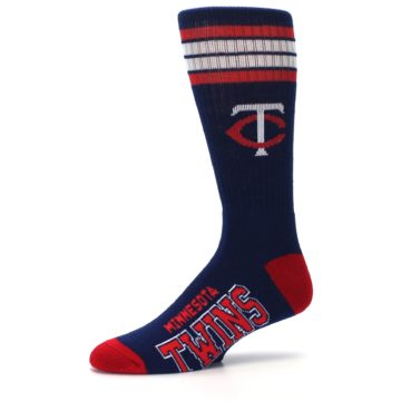 Image of Minnesota Twins Men's Athletic Crew Socks (side-2-10)