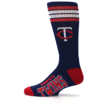Image of Minnesota Twins Men's Athletic Crew Socks (side-2-12)