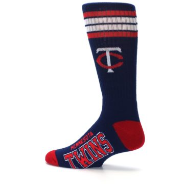 Image of Minnesota Twins Men's Athletic Crew Socks (side-2-13)
