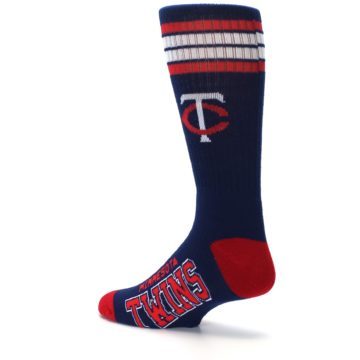 Image of Minnesota Twins Men's Athletic Crew Socks (side-2-back-14)