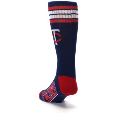 Image of Minnesota Twins Men's Athletic Crew Socks (side-2-back-16)