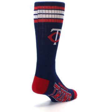 Image of Minnesota Twins Men's Athletic Crew Socks (side-1-back-21)