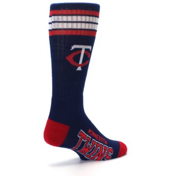 Image of Minnesota Twins Men's Athletic Crew Socks (side-1-back-22)